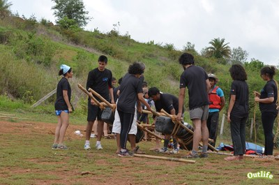 Raft Building Activity