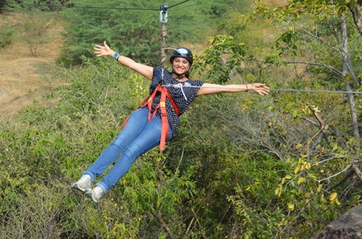 Zip Lining Team Outing